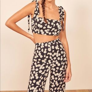 Reformation Tiki Two Piece Daisy Print